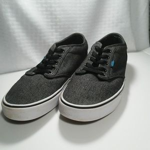 Mens gray Vans lace up shoes size 10
